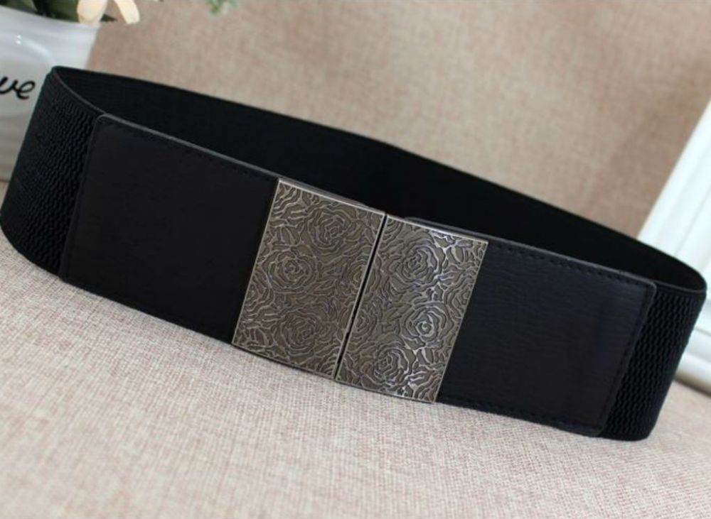 A Belt Women S Elastic Belts Black Stretch Fashion Belt